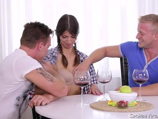 Virgin marisa looses virginity with two guys after doctor check | doctorgayvirgin
