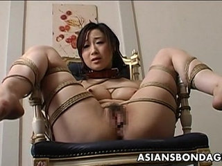 Toy fucked tied up and pussy waxed | bondagepussytoys