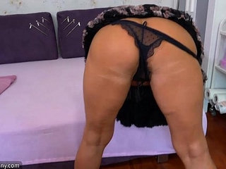 OldNanny Old mature doing striptease and masturbating pussy | masturbationmatureolderolder womanpussystriptease