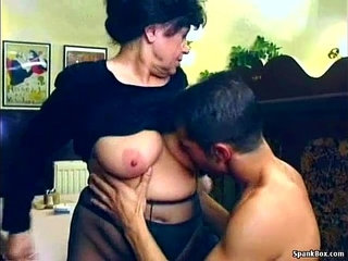 Sexy granny gets fucked in restaurant | sexy