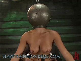 Busty brunette babe has been punished and pussy fucked by dildo   brunettebustydildopunishmentpussy