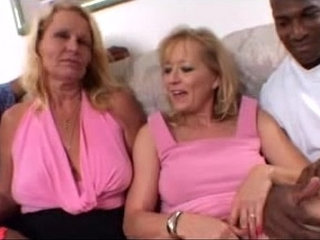 Blonde Moms share a Big Black Cock together in Amateur Wife Threesome Video | 3someamateurbbcblondesharing