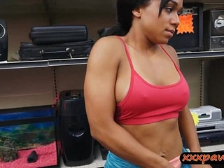 Ghetto chick gets fucked by pawn guy at the pawnshop | chickgayghettoshop