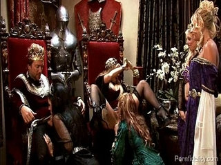 King and queen have a medieval orgy with four hot whores | orgywhores