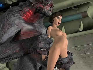 elizabeth fucked by a monster   monster cock